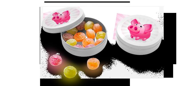 Bonbons Werbeartikel guenstig drucken Bonbon Taefeli billig Bern