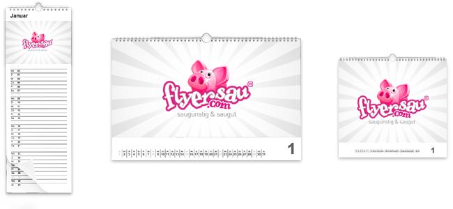 flyersau.com - Kalender oder Wandkalender mit Logo Firmenlogo guenstig online Drucken in Bern Thun Interlaken